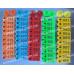 Ушная бирка 50×17мм для свиней, овец, коз, собак, прямоугольная с номером и металлическим наконечником